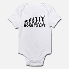 Evolution born to lift weightlifti Infant Bodysuit