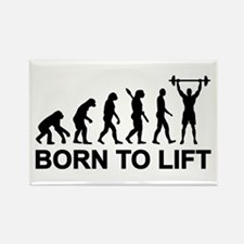 Evolution born to lift weightlift Rectangle Magnet