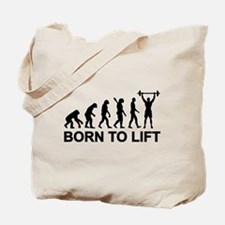 Evolution born to lift weightlifting Tote Bag