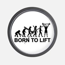 Evolution born to lift weightlifting Wall Clock