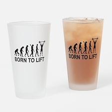 Evolution born to lift weightliftin Drinking Glass