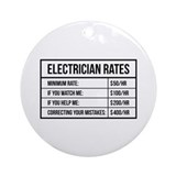 Electrician Round Ornaments