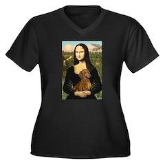 Mona's Dachshund Women's Plus Size V-Neck Dark T-S
