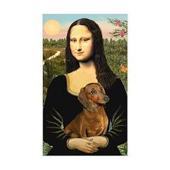 Mona's Dachshund Sticker (Rectangle)