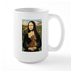 Mona's Dachshund Large Mug