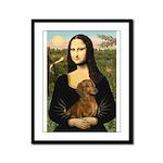 Mona's Dachshund Framed Panel Print