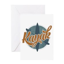 Kayak Emblem Greeting Card