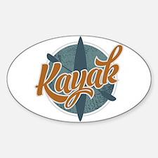 Kayak Emblem Bumper Stickers