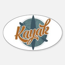 Kayak Emblem Sticker (Oval)