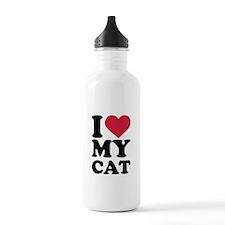 I love my cat Water Bottle