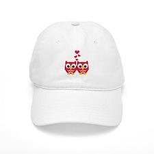 Red owls hearts Baseball Cap