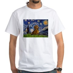 Starry / Dachshund White T-Shirt