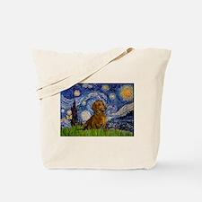 Starry / Dachshund Tote Bag