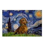 Starry / Dachshund Postcards (Package of 8)