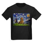 Starry / Dachshund Kids Dark T-Shirt