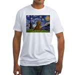 Starry / Dachshund Fitted T-Shirt