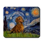 Starry / Dachshund Mousepad