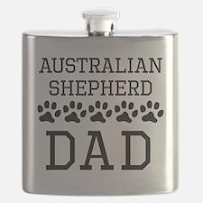 Australian Shepherd Dad Flask