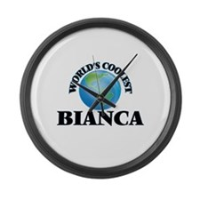 World's Coolest Bianca Large Wall Clock