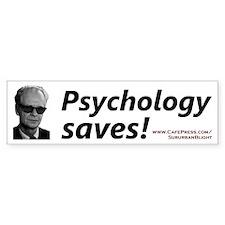 """Psychology Saves!"" Bumper Car Sticker"