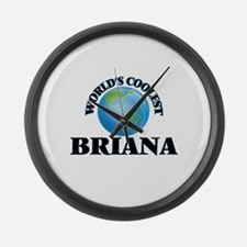 World's Coolest Briana Large Wall Clock