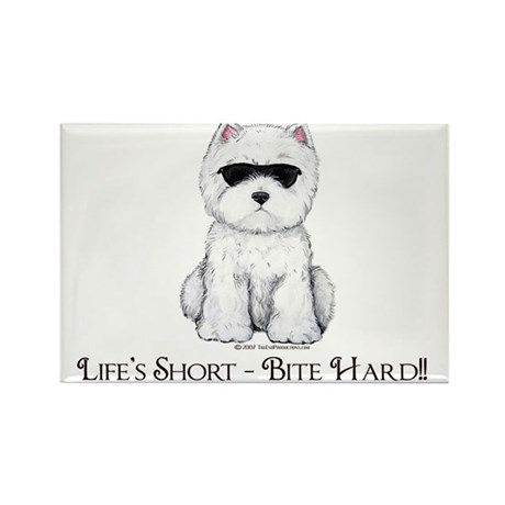 Life's Westie Too Rectangle Magnet (10 pack)