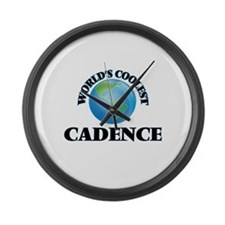 World's Coolest Cadence Large Wall Clock