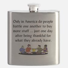 BLACK FRIDAY - Only in America do people bat Flask
