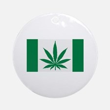 Marijuana flag Ornament (Round)