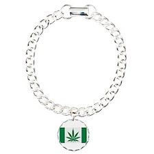 Marijuana flag Bracelet