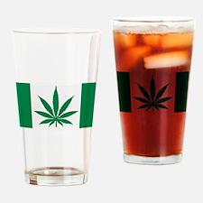 Marijuana flag Drinking Glass