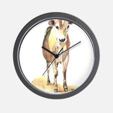 Cow brown Wall Clock