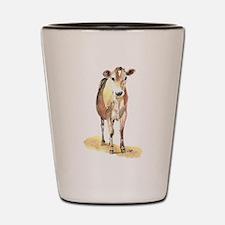 Cow brown Shot Glass