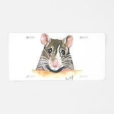 Rat face Aluminum License Plate