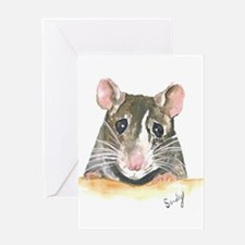 Rat face Greeting Cards