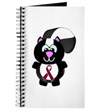 Burgundy Awareness Ribbon Skunk Journal