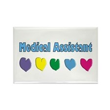 Cute Office assistant Rectangle Magnet (10 pack)