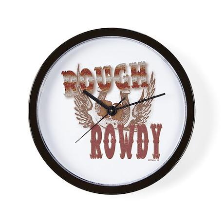Rough n Rowdy Wall Clock
