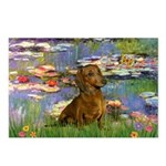 Lilies & Dachshund Postcards (Package of 8)