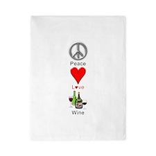 Peace Love Wine Twin Duvet