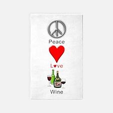 Peace Love Wine Area Rug