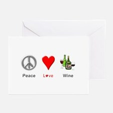 Peace Love Wine Greeting Cards (Pk of 10)