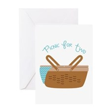 Picnic For Two Greeting Cards
