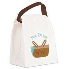 Picnic For Two Canvas Lunch Bag