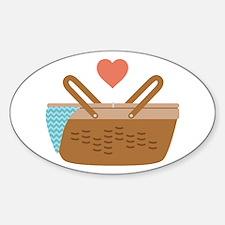 Picnic Heart Basket Decal