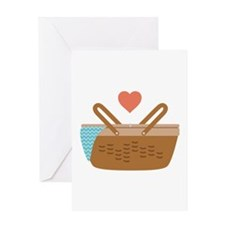 Picnic Heart Basket Greeting Cards