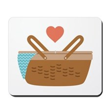Picnic Heart Basket Mousepad