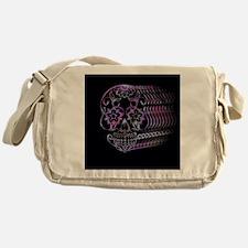 Ghastly Sugar Skull Messenger Bag