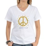 Give Bees a Chance Women's V-Neck T-Shirt