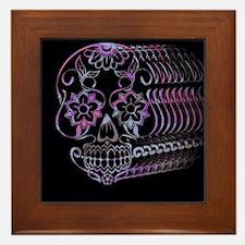 Ghastly Sugar Skull Framed Tile
